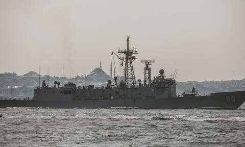 Αμερικανικό πολεμικό πλοίο στην Κωνσταντινούπολη