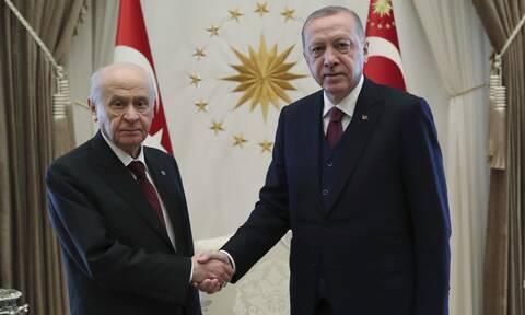 Ο Ερντογάν με τον Μπαχτσελί