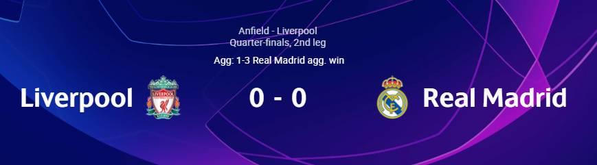 Λίβερπουλ - Ρεάλ Μαδρίτης 0-0