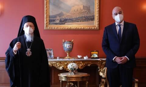 Πατριάρχης Βαρθολομαίος - Νίκος Δένδιας