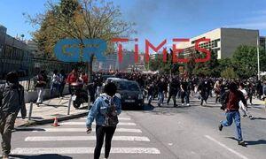 Θεσσαλονίκη: Επεισόδια και μολότοφ μετά την πορεία φοιτητών