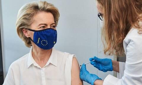 Κορονοϊός: Εμβολιάστηκε η Ούρσουλα Φον ντερ Λάιεν - Το μήνυμά της