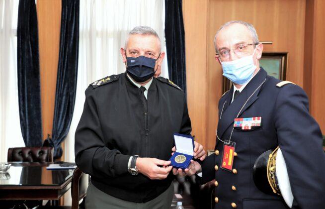 Συνάντηση αρχηγού ΓΕΕΘΑ με Γάλλους αξιωματικούς