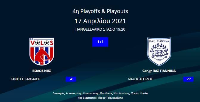 Βόλος - ΠΑΣ Γιάννινα 1-1