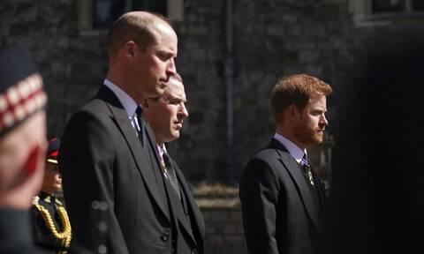 Κηδεία πρίγκιπα Φιλίππου: Συντετριμμένοι οι πρίγκιπες Ουίλιαμ και Χάρι (pics)