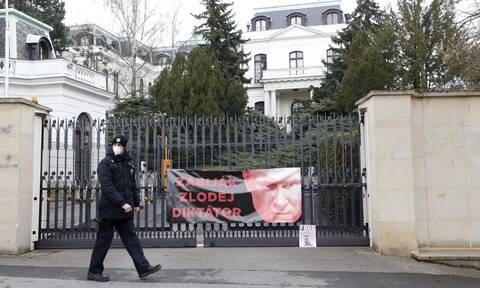 Η ρωσική πρεσβεία στην Πράγα, πρωτεύουσα της Τσεχίας