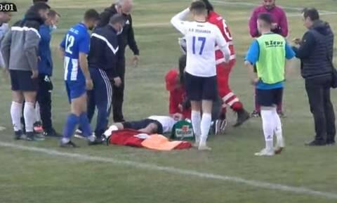 Γ' Εθνική: Σοβαρός τραυματισμός ποδοσφαιριστή - Δεν υπήρχε ασθενοφόρο στο γήπεδο