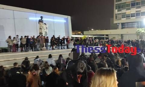 Θεσσαλονίκη: Fireshow στο ΑΠΘ με εκατοντάδες άτομα