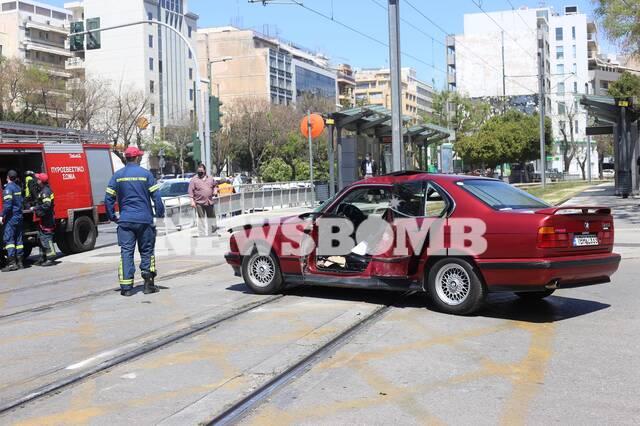 Σύγκρουση τραμ αυτοκίνητο Νέος Κόσμος