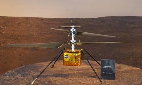 Νέα εποχή στην εξερεύνηση διαστήματος -Το ελικόπτερο της NASA «πέταξε» στον πλανήτη Άρη