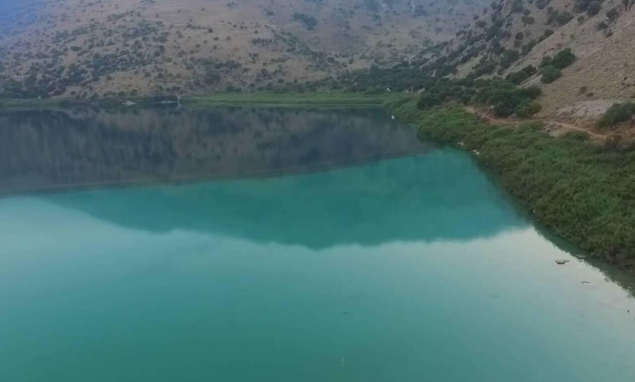 Αυτή είναι η στοιχειωμένη λίμνη της Κρήτης! (vid)
