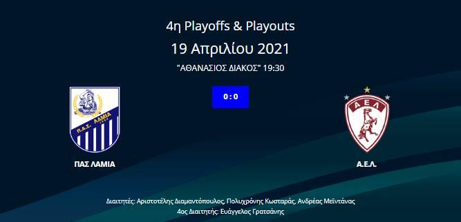 Λαμία-ΑΕΛ 0-0