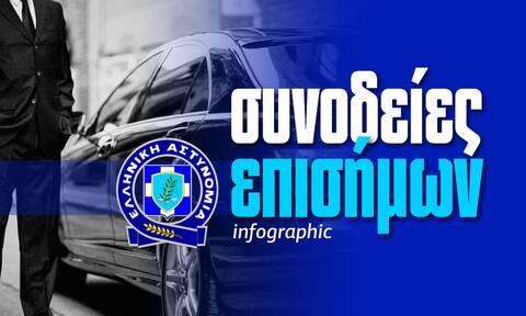 Αστυνομία: Ένας... στρατός για πολιτικούς και επισήμους - Δείτε το Infographic του Newsbomb.gr