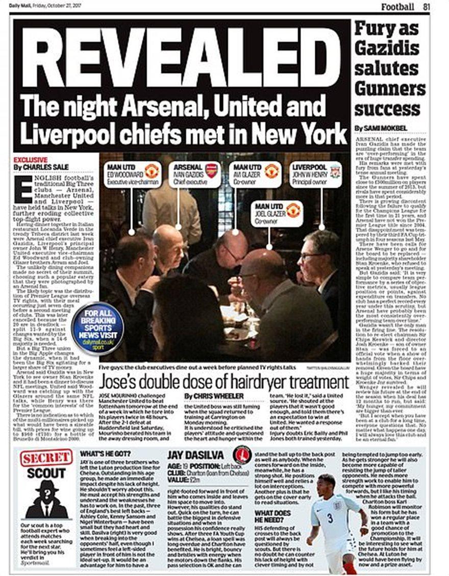 European Super League δημοσίευμα