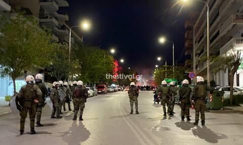 Θεσσαλονίκη: Ένταση μεταξύ οπαδών του ΠΑΟΚ και αστυνομικών δυνάμεων