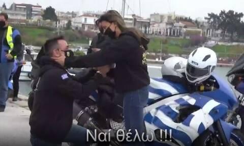 Θεσσαλονίκη: Πρόταση γάμου – υπερπαραγωγή με drone και μοτοσικλέτες