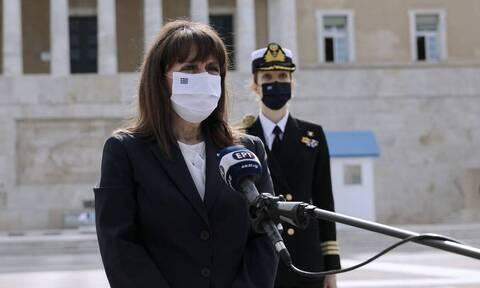 Σακελλαροπούλου για την 21η Απριλίου: Η Ελλάδα είναι ένα σύγχρονο κράτος δικαίου