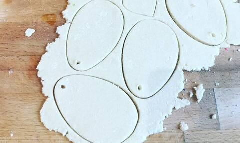 Φτιάξτε πασχαλινά διακοσμητικά αυγά με αλατοζύμη