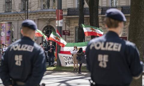 Διαδηλωτές στη Βιέννη