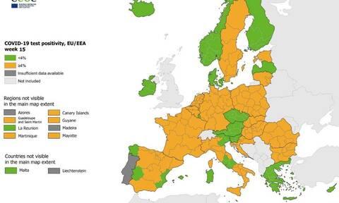 ECDC: «Πράσινη» η Ελλάδα - Κάτω από το 4% ο δείκτης θετικότητας