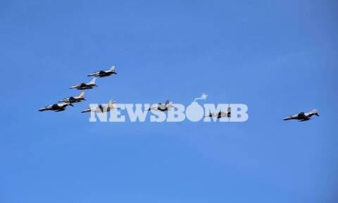 «Ηνίοχος 2021»: Mαχητικά αεροσκάφη πάνω από την Αθήνα