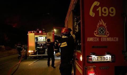 Ηράκλειο: Συναγερμός στην Πυροσβεστική για φωτιά σε χαράδρα