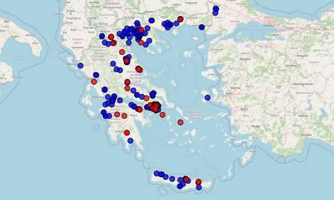Κλειστά σχολεία λόγω κορονοϊού - Χάρτης