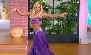 «Κόλαση» η Ιωάννα Μαλέσκου: Χόρεψε live τον χορό της κοιλιάς στο πλατό της εκπομπής