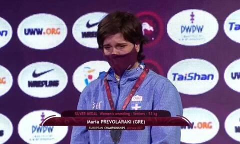 Πάλη: Ασημένιο μετάλλιο για την Περβολαράκη στο Ευρωπαϊκό Πρωτάθλημα