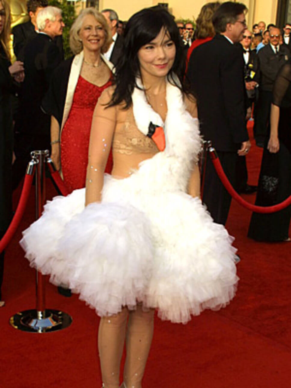 Bjork swan dress oscar 2001