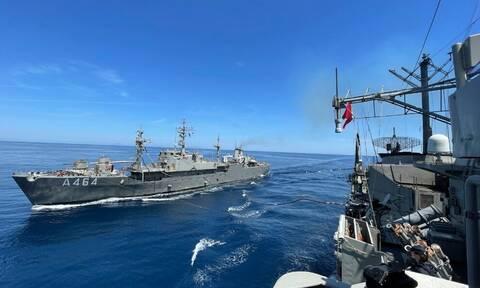 Ασκήσεις - μήνυμα του Πολεμικού Ναυτικού σε όλο το Αιγαίο: Οι εικόνες εντυπωσιάζουν