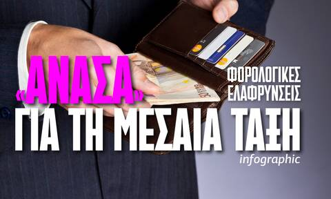 Φορολογικό πακέτο στήριξης της μεσαίας τάξης: Το ψαλίδισμα των φόρων στο Infographic του Newsbomb.gr