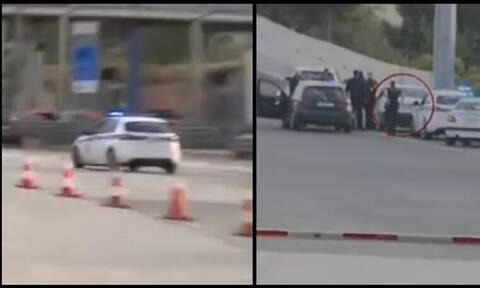 Καταδίωξη στα διόδια της Ελευσίνας: Πάτησε γκάζι για να αποφύγει τον έλεγχο (vid)