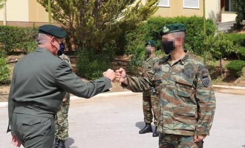 Επίσκεψη Στρατηγού Φλώρου σε μονάδες της Διοίκησης Ειδικού Πολέμου