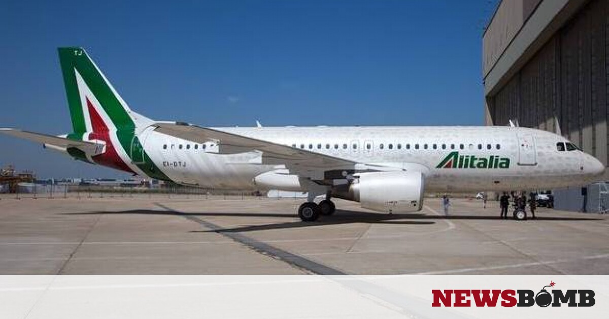 facebookAlitalia Airbus A320 in new livery