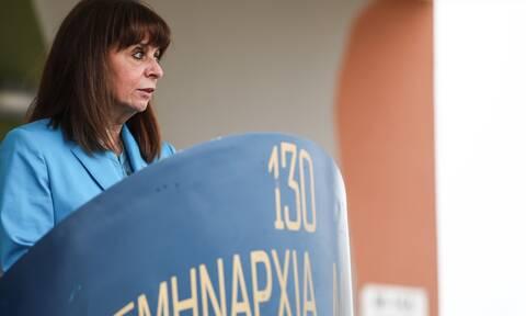 Κατερίνα Σακελλαροπούλου: To μήνυμα αισιοδοξίας, υπερηφάνειας και αποφασιστικότητας από τη Λήμνο