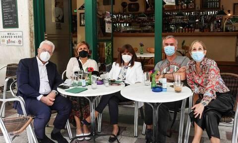 Σακελλαροπούλου: Για καφέ με γιατρούς από Ευαγγελισμό και Σωτηρία