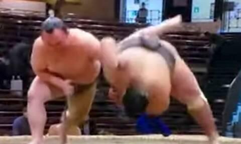 Βίντεο: Η στιγμή του θανάσιμου τραυματισμού 28χρονου αθλητή του σούμο