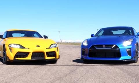 Nissan GT-R vs Toyota Supra: Κόντρα αλά ιαπωνικά! (video)