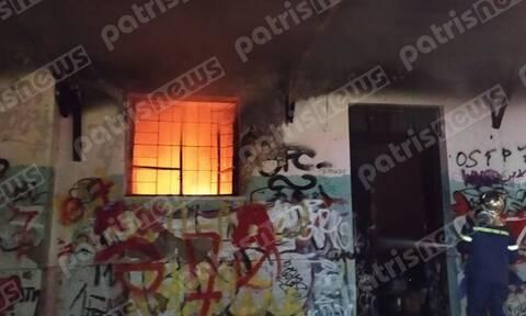 Πανικός στην Αμαλιάδα: Φωτιά στον πρώην σταθμό του ΟΣΕ