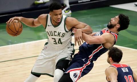 NBA: Πήραν το θρίλερ με Ουίζαρντς οι Μπακς με εξαιρετικό Αντετοκούνμπο (vid)