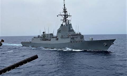Ένοπλες Δυνάμεις: Συνεκπαίδευση Ναυτικού και Αεροπορίας με την SNMG 2