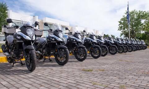 Με 16 νέες μοτοσικλέτες ενισχύονται οι αστυνομικές υπηρεσίες της Θεσσαλίας