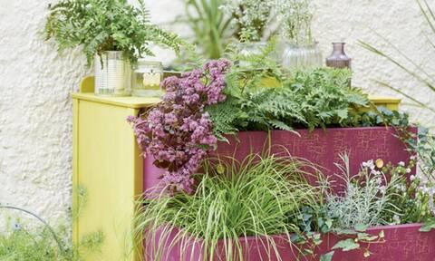 10 ιδέες για να μεταμορφώσεις παλιά αντικείμενα για τον κήπο σου (photos)