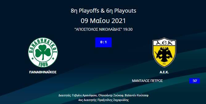 Παναθηναϊκός - ΑΕΚ 0-1