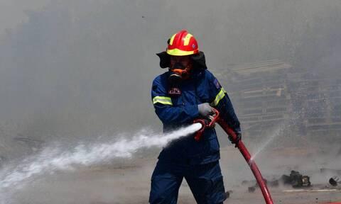 Συναγερμός στη Κορινθία: Φωτιά στους Αγίους Θεοδώρους κοντά στο Γυμνάσιο της πόλης