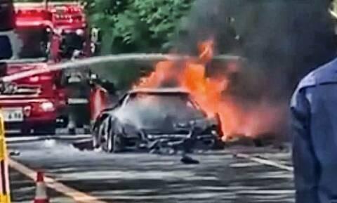 Ολική καταστροφή μιας πολύτιμης Ferrari F40 στην Ιαπωνία