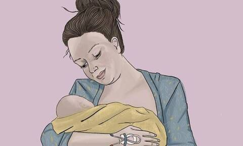 Σκίτσα που υμνούν την μητρότητα