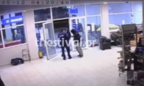Θεσσαλονίκη: Ένοπλη ληστεία σε βενζινάδικο (vid)