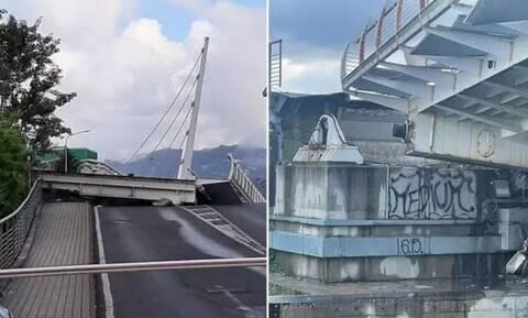 Ιταλία: Κατέρρευσε κινητή γέφυρα - Σώθηκαν από θαύμα